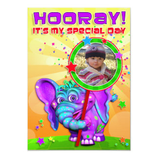 "Hooray! Birthday Invite with ""The GiggleBellies"""