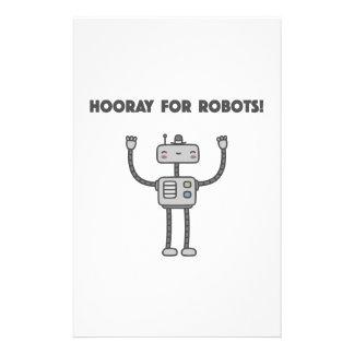 Hooray for robots! custom stationery