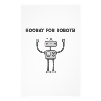 Hooray for robots! stationery