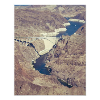 Hoover Dam Aerial Photo Print