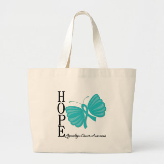 Hope Butterfly Gynecologic Cancer Jumbo Tote Bag