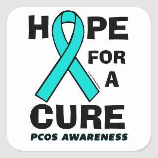 Hope For A Cure...PCOS Square Sticker