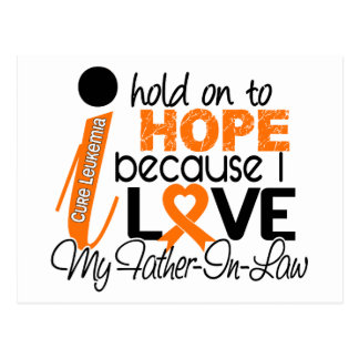 Hope For My Father-In-Law Leukemia Post Card
