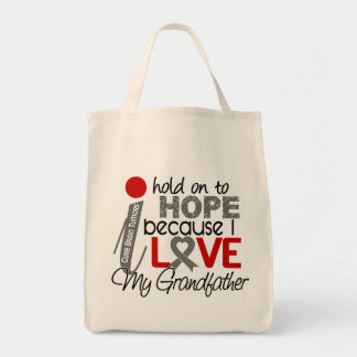 Hope For My Grandfather Brain Tumor Grocery Tote Bag
