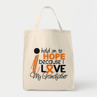 Hope For My Grandfather Leukemia Grocery Tote Bag