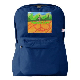 Hope Healing Church Peace and Love Backpack