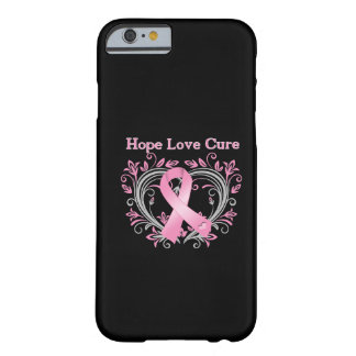 Hope Love Cure Breast Cancer Awareness Ribbon Barely There iPhone 6 Case