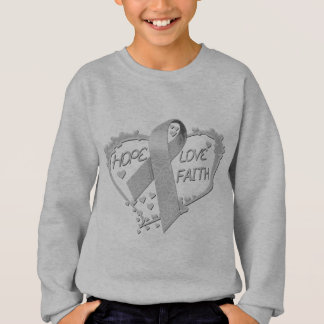 Hope Love Faith Heart (grey) Sweatshirt