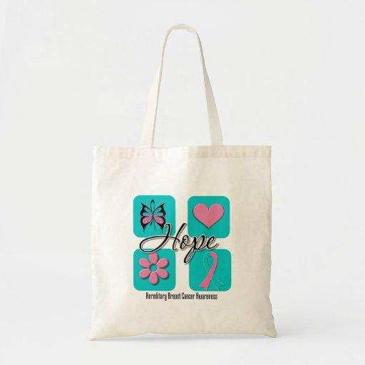 Hope Love Inspire Hereditary Breast Cancer Tote Bag