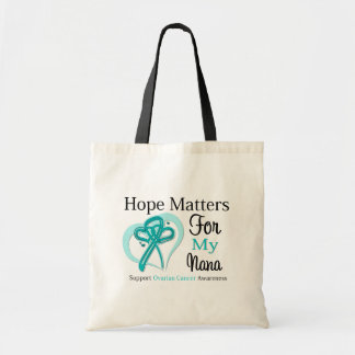 Hope Matters For My Nana - Ovarian Cancer Budget Tote Bag