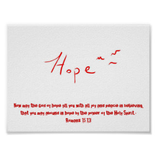 Hope Poster with Scripture