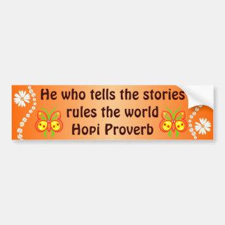 Hopi support bumper sticker