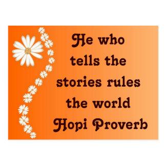 Hopi support postcard