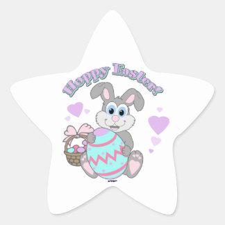 Hoppy Easter! Easter Bunny Star Sticker