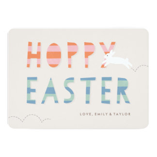 Hoppy Easter Easter Card - Bubblegum 13 Cm X 18 Cm Invitation Card