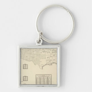 Hops Silver-Colored Square Key Ring