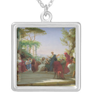Horatius Reading his Satires to Maecenas, 1863 Silver Plated Necklace