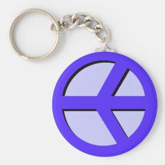 Horizontal Peace (Blue) Keychain