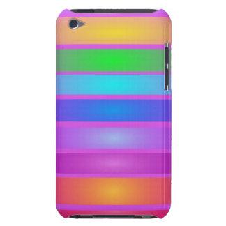 Horizontal Stripes Art Purple iPod Touch Cases
