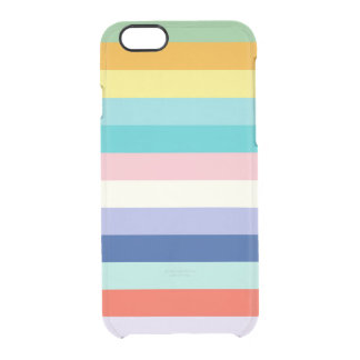 Horizontal Stripes In Spring Colors Clear iPhone 6/6S Case