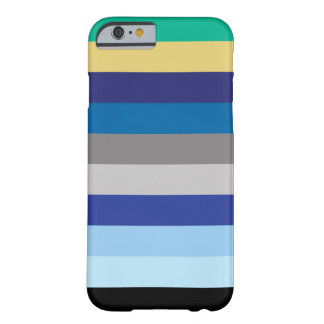 Horizontal Stripes In Winter Colors Barely There iPhone 6 Case