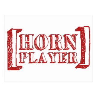 Horn Player Post Card