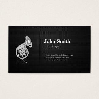 Horn Player - Professional Premium Black Mesh Business Card