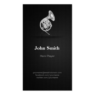 Horn Player - Professional Premium Black Mesh Pack Of Standard Business Cards