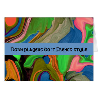 horn players humor greeting card