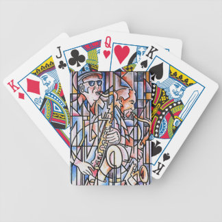 Horn section playing cards