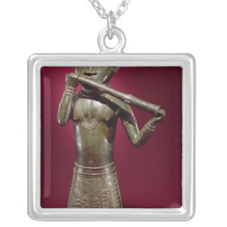 Hornblower, from Benin, Nigeria Silver Plated Necklace