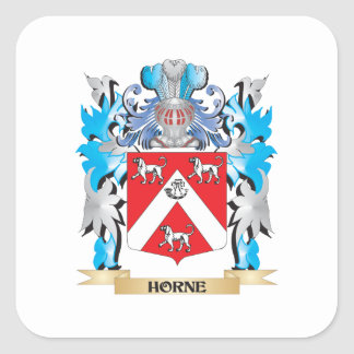 Horne Coat of Arms - Family Crest Square Sticker