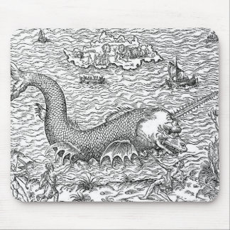 Horned Sea Serpent Mouse Pad