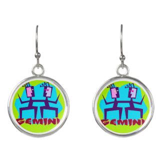 Horoscope Gemini Symbol Sign Earrings