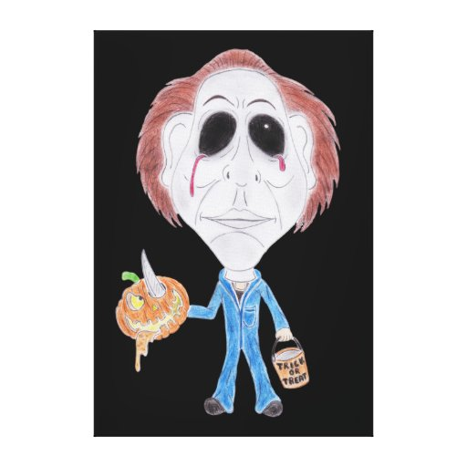Horror Cult Movie Caricature Serial Killer Canvas Canvas Prints