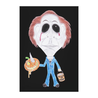 Horror Cult Movie Caricature Serial Killer Canvas Stretched Canvas Prints