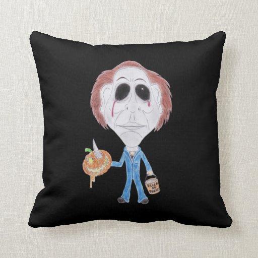 Horror Cult Movie Caricature Serial Killer Cushion Pillows