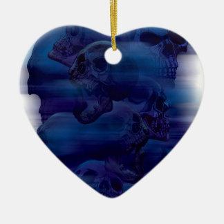 Horror Ghost Skeleton Ceramic Heart Decoration