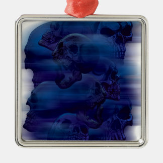 Horror Ghost Skeleton Silver-Colored Square Decoration