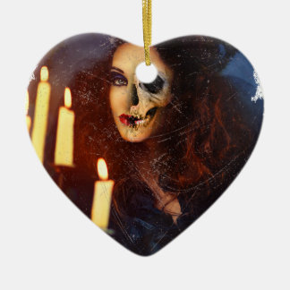 Horror Girl Candle Freak Creepy Horror Ceramic Heart Decoration