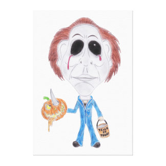 Horror Movie Caricature Serial Killer Canvas Canvas Print