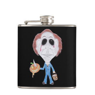 Horror Movie Serial Killer Funny Caricature Flask