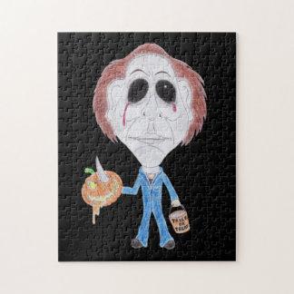 Horror Movie Serial Killer Funny Caricature Puzzle