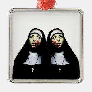 Horror nuns christmas ornament