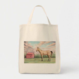 Horse and Barn Grocery Bag