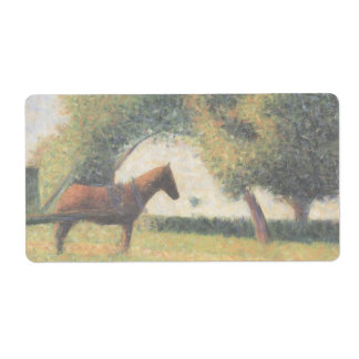 Horse and Cart by Georges Seurat Shipping Label