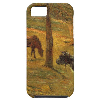 Horse and Cow in a Meadow by Paul Gauguin iPhone 5 Cases