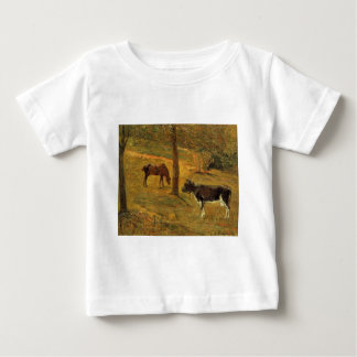 Horse and Cow in a Meadow by Paul Gauguin Shirt