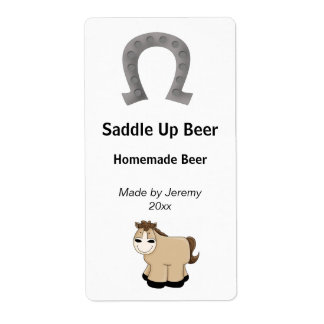 Horse and Horse Shoe Beer Label