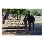 horse and rider eventing poster